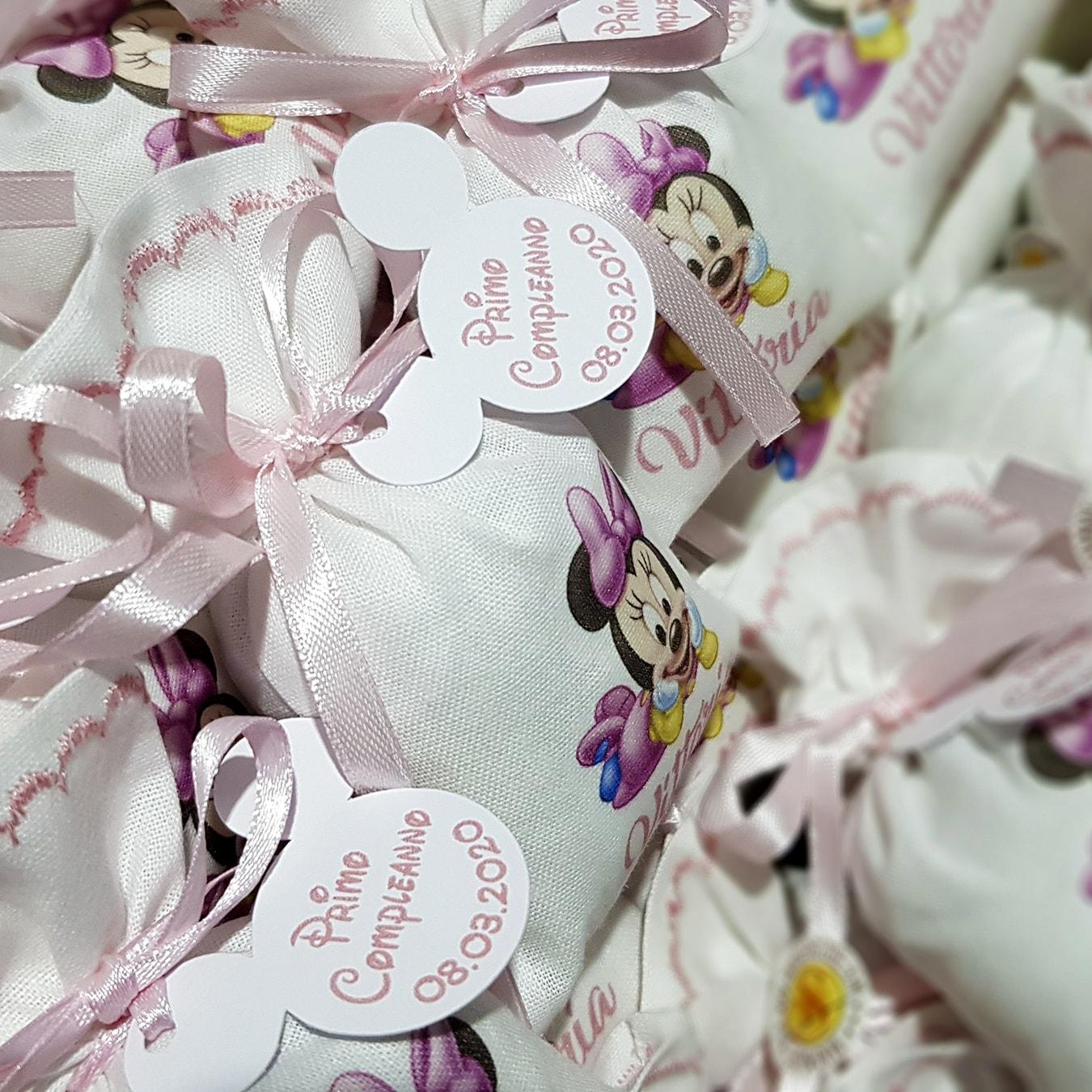 Portaconfetti Minnie personalizzati con nome bimbo - www.crociedelizie.com