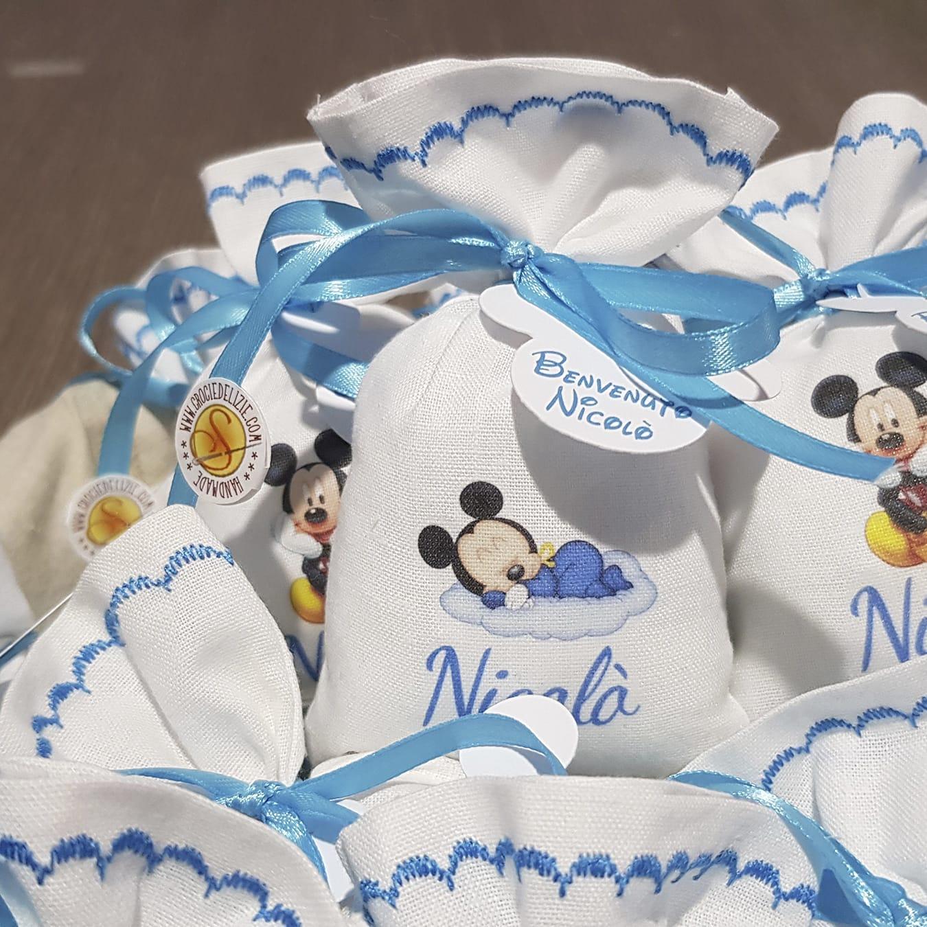 Portaconfetti Topolino personalizzati con nome bimbo - www.crociedelizie.com