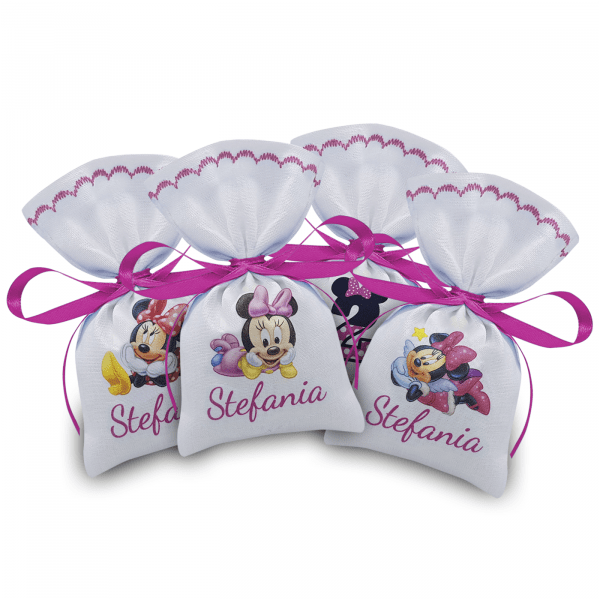 Portaconfetti Minnie personalizzati con nome bimba - www.crociedelizie.com
