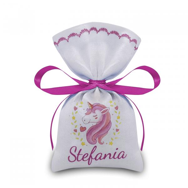 Portaconfetti Unicorno personalizzati con nome bimba - www.crociedelizie.com
