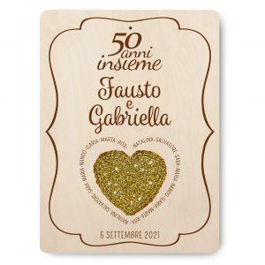 Targa ricordo nozze d'oro - www.crociedelizie.com