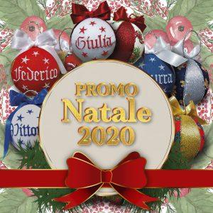 Promo Natale 2020 - Set da 5 Palline di Natale personalizzate con nome ricamato - SPEDIZIONE GRATUITA - www.crociedelizie.com