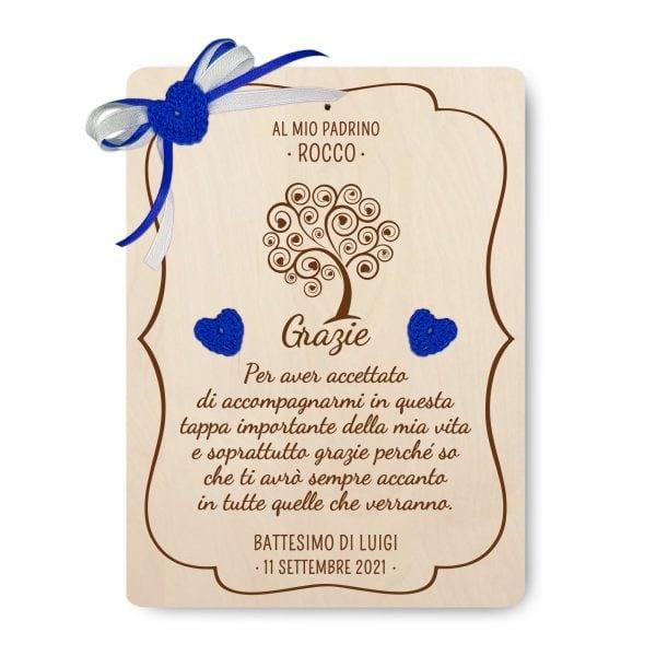 Targa ricordo Albero della Vita per Battesimo - www.crociedelizie.com