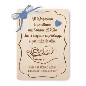 Targa ricordo del Battesimo per padrino e madrina - www.crociedelizie.com